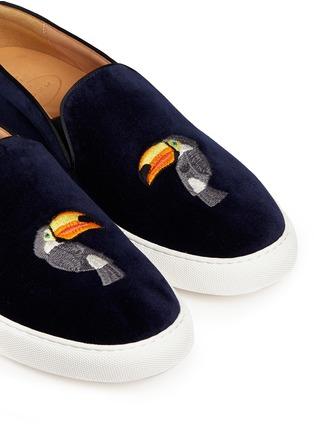 细节 - 点击放大 - BING XU - 啄木鸟刺绣平底便鞋