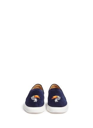 模特示范图 - 点击放大 - BING XU - 啄木鸟刺绣平底便鞋