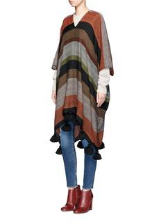 APIECE APARTSerape' stripe alpaca-wool blend poncho