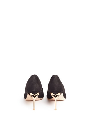 Back View - Click To Enlarge - Sophia Webster - 'Coco Flamingo' suede pumps
