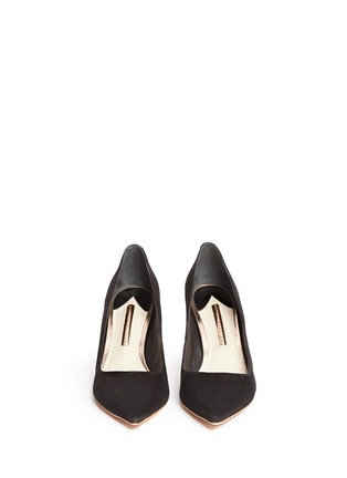 Front View - Click To Enlarge - Sophia Webster - 'Coco Flamingo' suede pumps