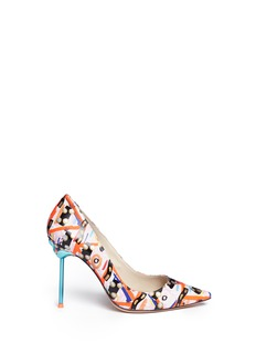 Sophia Webster'Coco Flamingo' graphic print leather pumps