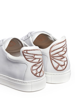 Detail View - Click To Enlarge - Sophia Webster - 'Bibi' butterfly wing embroidery leather sneakers