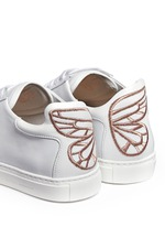 'Bibi' butterfly wing embroidery leather sneakers