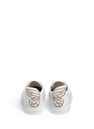 Back View - Click To Enlarge - Sophia Webster - 'Bibi' butterfly wing embroidery leather sneakers