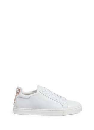 Main View - Click To Enlarge - Sophia Webster - 'Bibi' butterfly wing embroidery leather sneakers