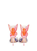'Chiara' butterfly appliqué metallic leather sandals