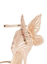 'Chiara' butterfly embroidery metallic leather sandals
