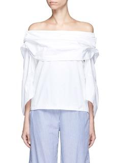 Rosie AssoulinCotton poplin off-shoulder top