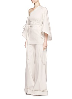 Rosie Assoulin Cotton twill wide leg pants