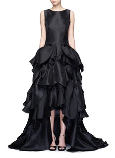 Maticevski'Vanquished' ruffle tulle skirt mesh effect gown