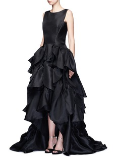 Maticevski 'Vanquished' ruffle tulle skirt mesh effect gown