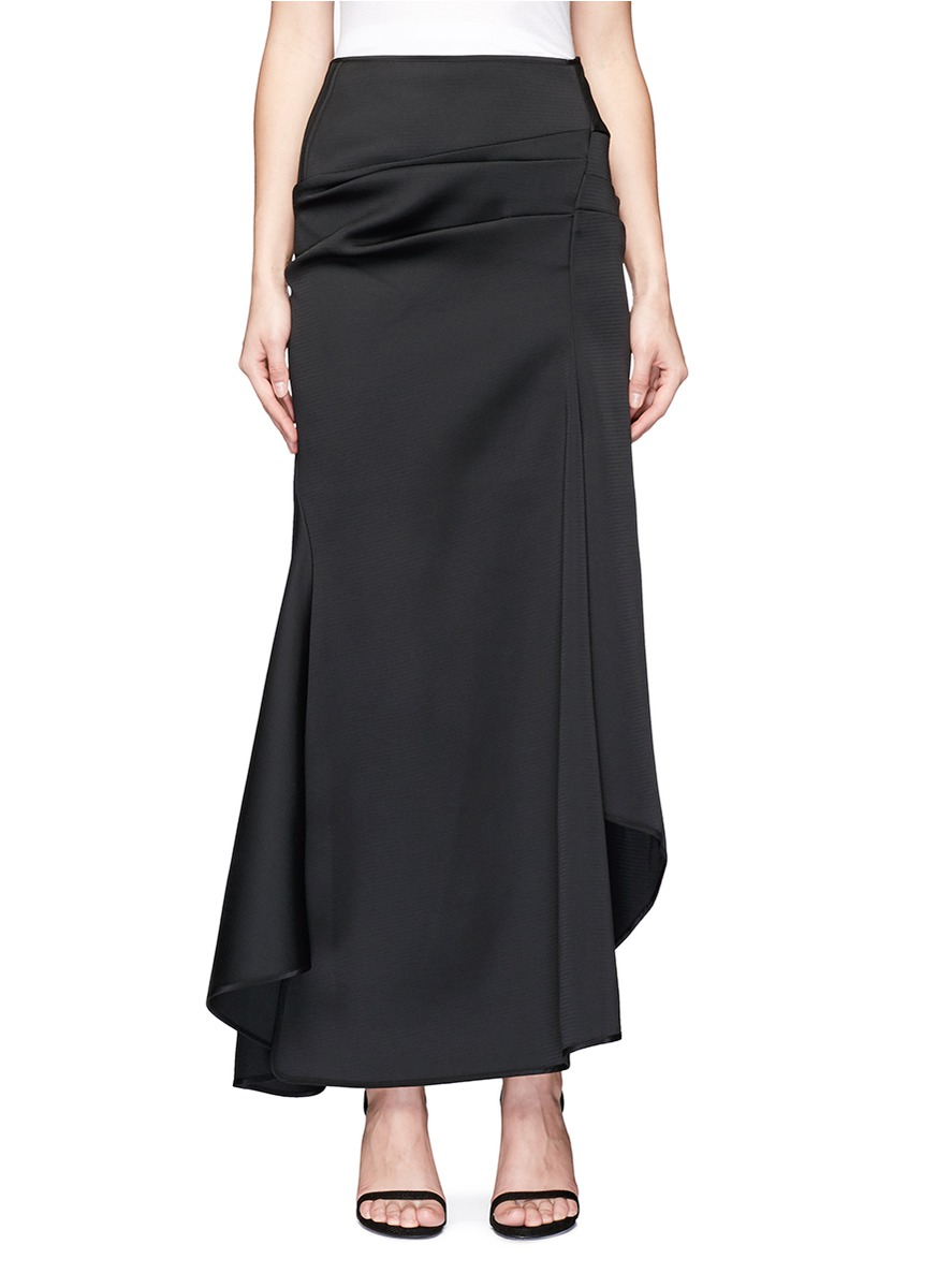 Succession textured asymmetric maxi skirt by Maticevski
