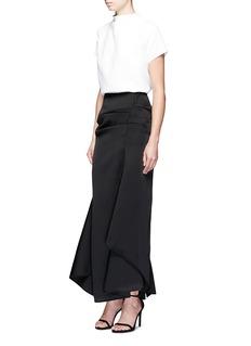 Maticevski'Succession' textured asymmetric maxi skirt