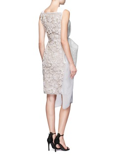 Maticevski 'Matriach' embroidered floral bonded mesh cocktail dress