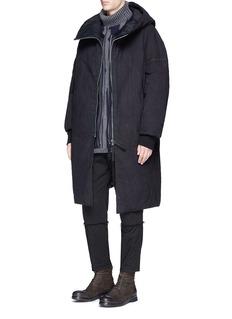 Ziggy ChenStripe oversized blouson jacket