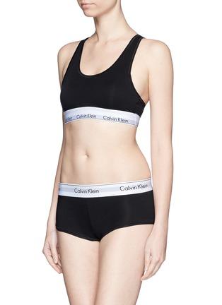 Figure View - Click To Enlarge - Calvin Klein Collection - 'Modern Cotton' logo waistband boyshort