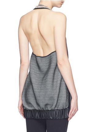 Back View - Click To Enlarge - No Ka'Oi - 'Lune' crystal bead embellished knit halterneck top