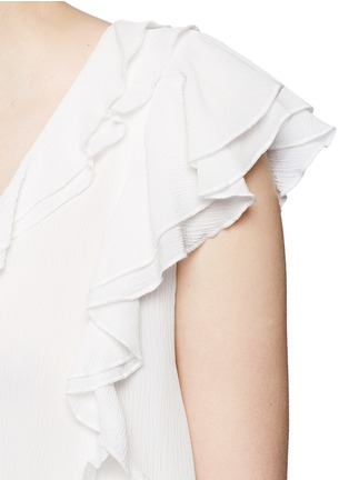 Detail View - Click To Enlarge - APIECE APART - 'Condesa' tassel ruffle silk crépon top