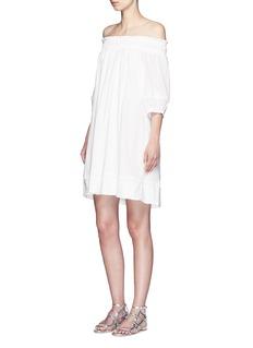 APIECE APART'Felina' pompom trim off-shoulder dress