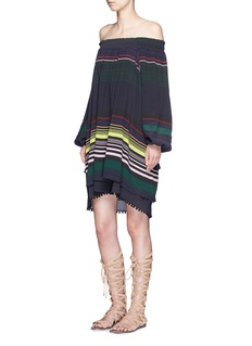 APIECE APART'Sayulita' stripe crinkled silk dress