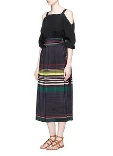 APIECE APART'Baja' sash tie stripe culottes