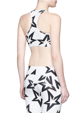 Back View - Click To Enlarge - Perfect Moment - 'Starlight' print performance jersey cropped top