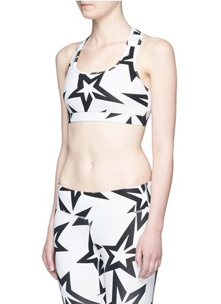 Front View - Click To Enlarge - Perfect Moment - 'Starlight' print performance jersey cropped top