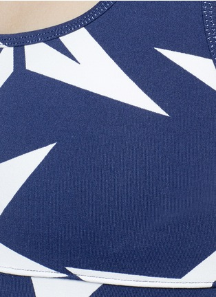 Detail View - Click To Enlarge - Perfect Moment - 'Starlight' print performance jersey cropped top