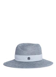 Maison Michel'Virginie' ribbed hemp straw fedora hat