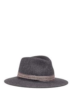 Maison Michel'Rico' rabbit furfelt fedora hat