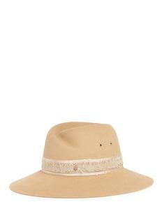 Maison Michel'Virginie' rabbit furfelt fedora hat