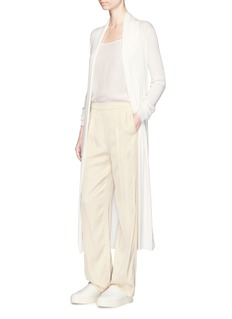 Calvin Klein Collection'Edith' cashmere rib knit long cardigan