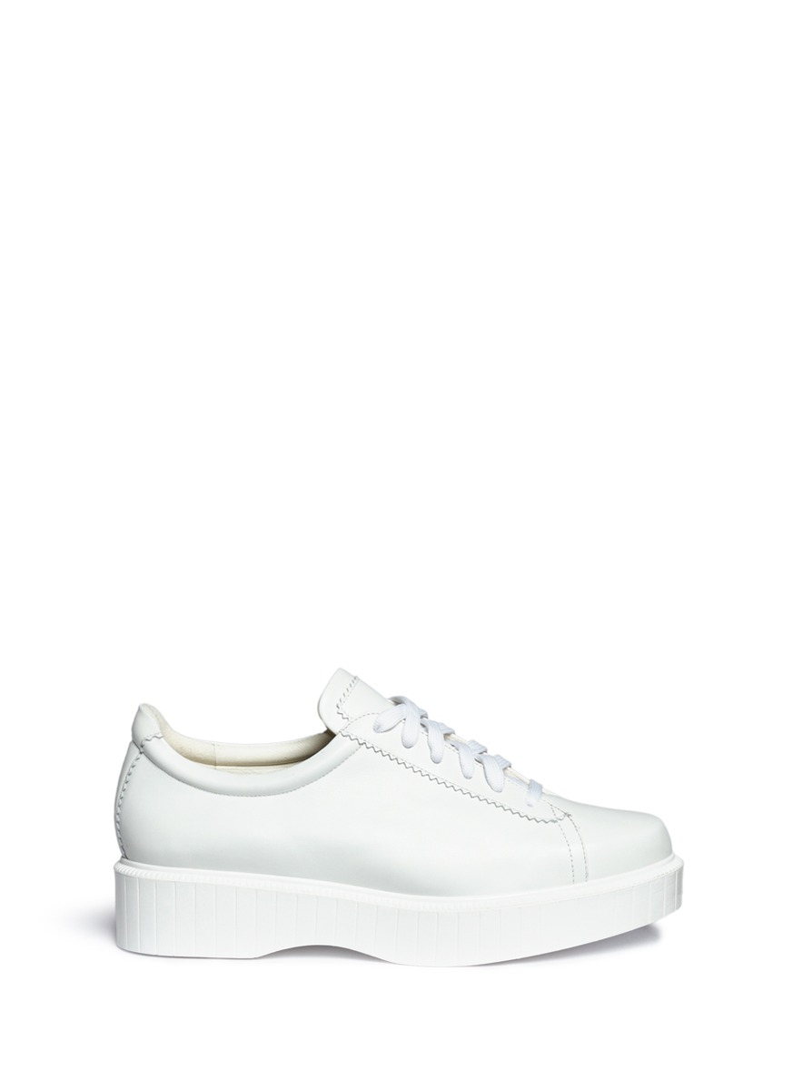 Pasketv leather platform sneakers by Robert Clergerie