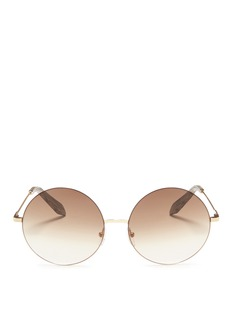 Victoria Beckham 'Feather Round' gradient lens metal sunglasses