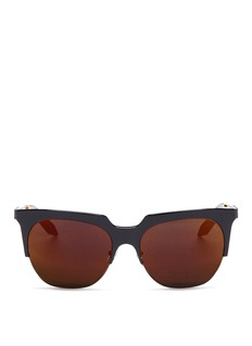 Victoria Beckham 'Layered Combination Square' acetate brow bar sunglasses