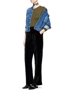 TopshopCrushed velvet wide leg pants