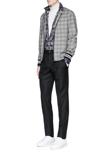 LanvinGlen plaid wool blouson jacket