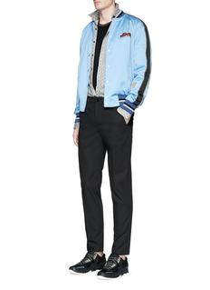 LanvinSlim fit floral diamond print shirt