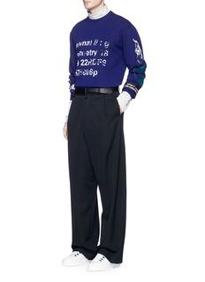 Lanvin'Semantic' print sweatshirt
