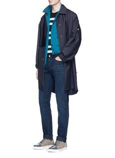 LanvinContrast waist cotton skinny jeans