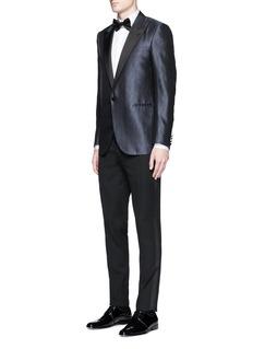 Lanvin'Evolution' silk jacquard tuxedo blazer