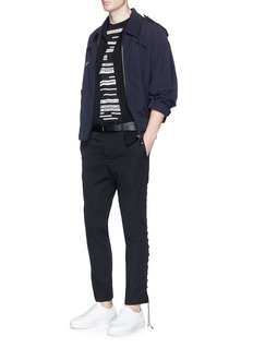 LanvinCross stitch patch blouson jacket