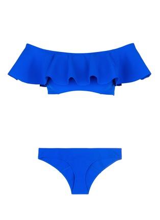 Main View - Click To Enlarge - Lisa Marie Fernandez - 'Mira Flounce' ruffle off-shoulder bikini set