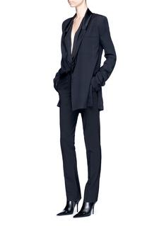 Haider AckermannSateen drape shawl lapel tuxedo blazer