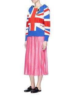 GucciLurex voile pleated skirt