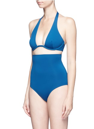 Detail View - Click To Enlarge - Ephemera - Convertible wraparound one-piece swimsuit