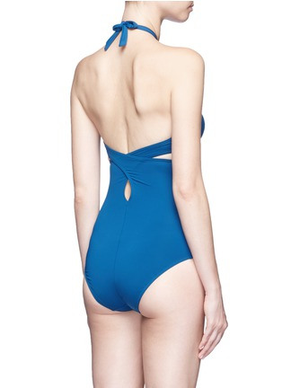 Back View - Click To Enlarge - Ephemera - Convertible wraparound one-piece swimsuit