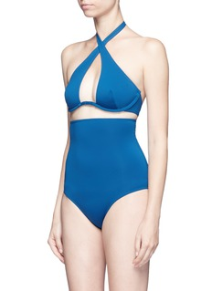 Ephemera Convertible wraparound one-piece swimsuit