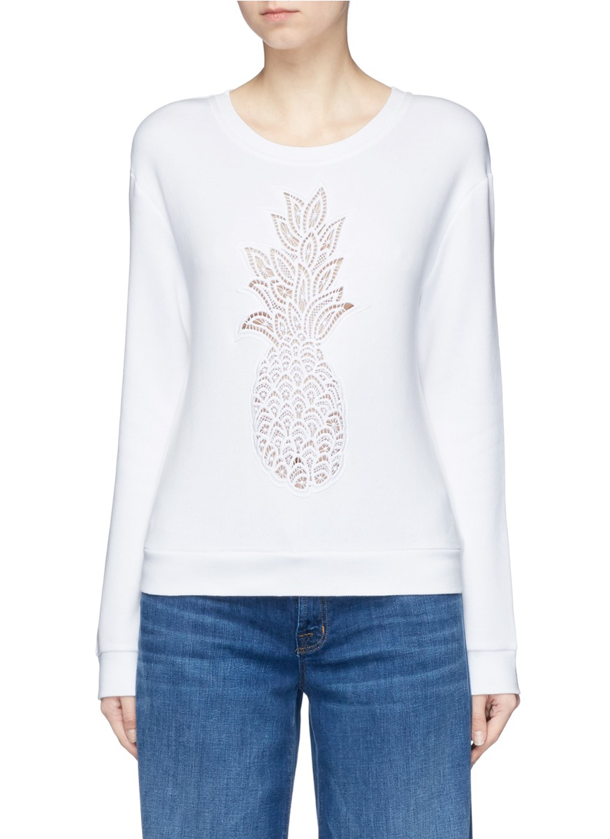 Pineapple embroidered sweatshirt by Chloé